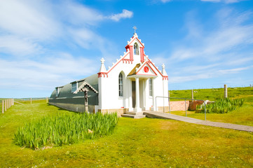 Small rural church in the countryside - The italian chapel, Orkn