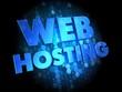 Web Hosting on Dark Digital Background.