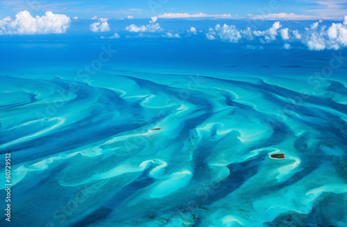 Poster Caraïben Bahamas aerial
