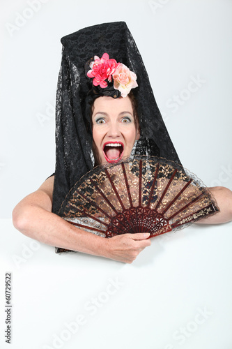 Woman with mantilla