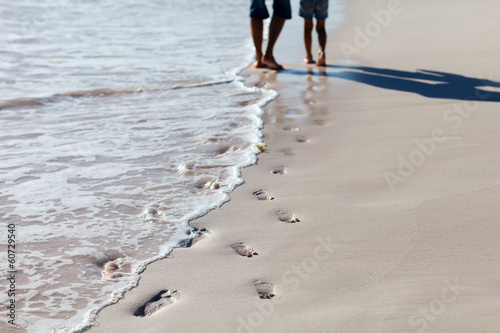 Footprints at beach