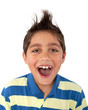canvas print picture - young boy screaming