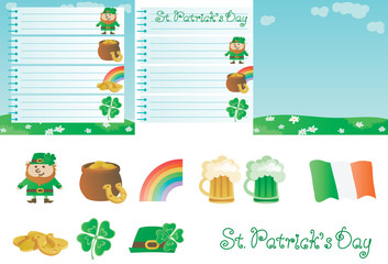 Vector set for St. Patrick's Day