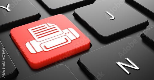 Print Concept on Red Keyboard Button.