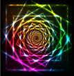 Abstract neon spiral vector background