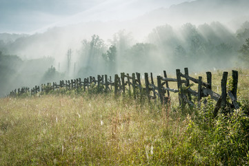 North Carolina Blue Ridge Parkway Fence