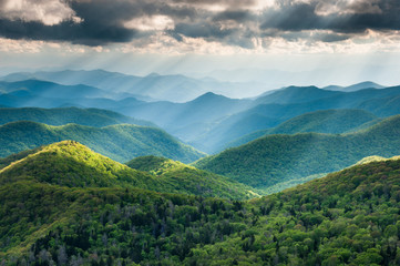 Southern Appalachian Blue Ridge Mountain Scenic