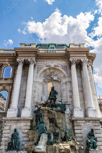 Hunting statue at the Royal palace, Budapest