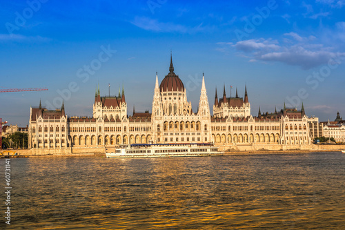Chain Bridge and Hungarian Parliament, Budapest, Hungary
