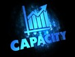 Capacity Concept on Dark Digital Background.