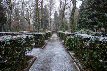 Cemetery in Poppelsdorf, Bonn, Germany