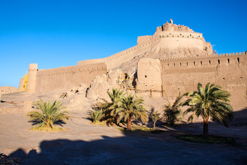 Fortification walls of ancient citadel of Bam