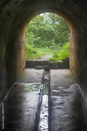 Leinwanddruck Bild Cannon Fort at Cat Ba island