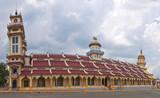 Cao Dai Temple in Tay Ninh near Ho Chi Minh City poster