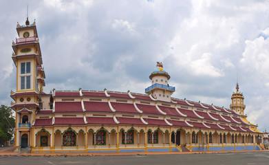 Cao Dai Temple in Tay Ninh near Ho Chi Minh City