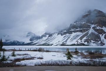 ground of snow mountain