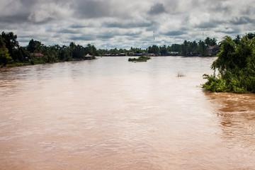 Islands on Mekong river, Laos