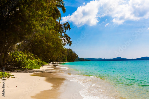 tropical beach in Thailand.