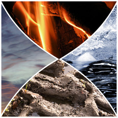 Collage of the four elements