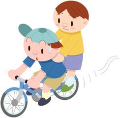 子どもの自転車2人乗り