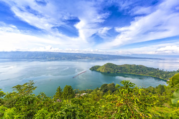 cloudscape of danau toba