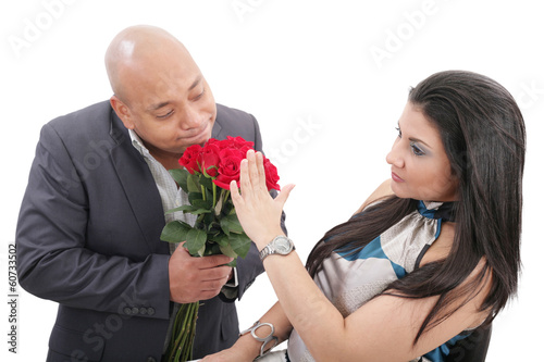 woman refusing apologies from her boyfriend