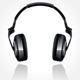 Headphones On A White Background