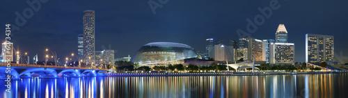 Fotobehang Singapore Panorama of Singapore city at night