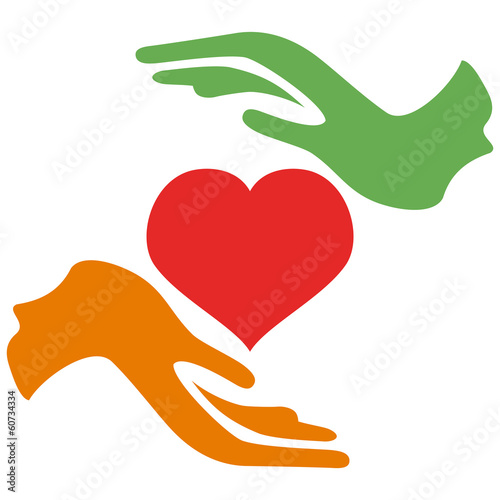 hands hold heart