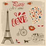 vintage card of Paris