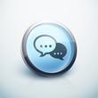 icône bouton internet conversation