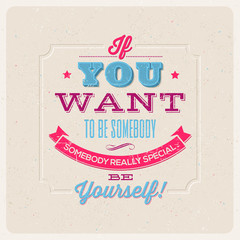 Quote Typographical Background. Vector design.