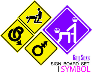 Hetero- gay sex and love couples icons set,gay sign baord