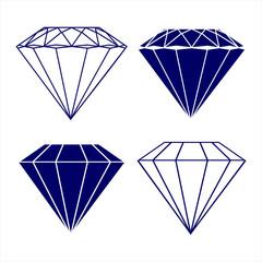 diamond symbols vector illustration
