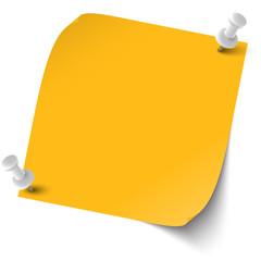 farbige Notiz mit Pin