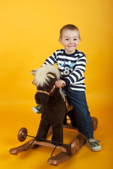Boy on a rocking horse