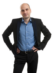Portrait of happy young businessman
