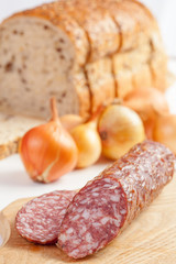 salami and onions