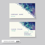 Business cards set. Vector illustration.