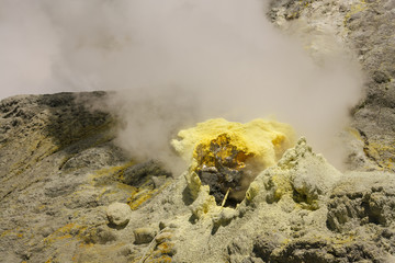 detail of volcanic fumarole on White Island