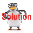 Academic penguin has the solution