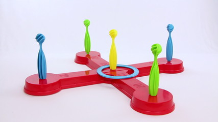 Ring scoring maximum result of a children plaything