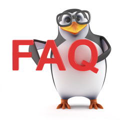 Academic penguin has a FAQ