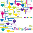 The Dating Game maze of hearts in vector format.