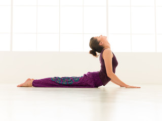 advanced yoga pose indor