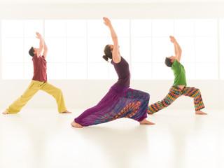 group yoga virabhadrasana
