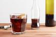 Kalimotxo wine and cola mixture glass
