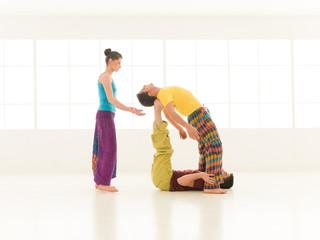 yoga partner gym vibrant color