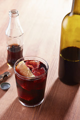 Kalimotxo wine and cola mixture glass