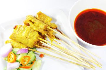 beef satay, pork satay, chicken satay, thai cuisine Image